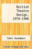 cover of British Theatre Design, 1978-1988
