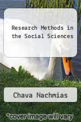 Research Methods in the Social Sciences by Chava Nachmias - ISBN 9780312067588