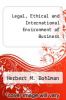 cover of Legal, Ethical and International Environment of Business (2nd edition)