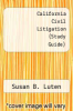 cover of California Civil Litigation (Study Guide) (2nd edition)