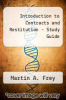 cover of Introduction to Contracts and Restitution - Study Guide (2nd edition)
