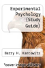 cover of Experimental Psychology (Study Guide) (5th edition)