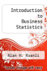 cover of Introduction to Business Statistics (4th edition)