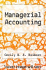 cover of Managerial Accounting (2nd edition)