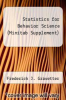 cover of Statistics for Behavior Science (Minitab Supplement)