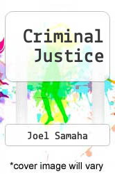 Criminal Justice by Joel Samaha - ISBN 9780314624840