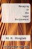 cover of Managing in the Legal Environment (3rd edition)