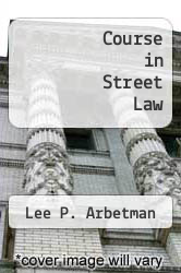 Cover of Course in Street Law 4 (ISBN 978-0314681973)
