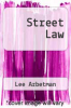 cover of Street Law (4th edition)