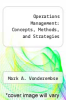 cover of Operations Management: Concepts, Methods, and Strategies (2nd edition)