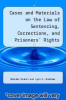 cover of Cases and Materials on the Law of Sentencing, Corrections, and Prisoners` Rights (4th edition)