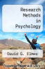 cover of Research Methods in Psychology (4th edition)