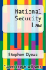 cover of National Security Law (2nd edition)