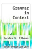 cover of Grammar in Context