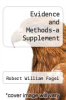 cover of Evidence and Methods-a Supplement