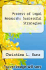 cover of Process of Legal Research: Successful Strategies (2nd edition)