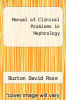 cover of Manual of Clinical Problems in Nephrology (1st edition)