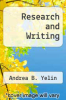 cover of Research and Writing (1st edition)