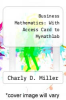 cover of Business Mathematics: With Access Card to Mymathlab (9th edition)