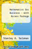 Mathematics for Business - With Access Package by Salzman - ISBN 9780321436832