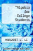 cover of Algebra for College Students
