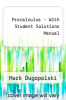 cover of Precalculus - With Student Solutions Manual (4th edition)