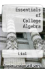 cover of Essentials of College Algebra