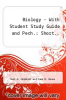 Biology  - With Student Study Guide and Pech. : Short.. by Neil A. Campbell and Jane B. Reece - ISBN 9780321684950