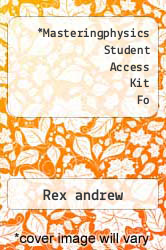 Cover of Masteringphysics Student Access Kit Fo 09 (ISBN 978-0321696311)