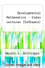 Developmental Mathematics - Video Lectures (Software) by Marvin L. Bittinger - ISBN 9780321730848