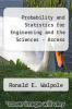 cover of Probability and Statistics for Engineering and the Sciences - Access (9th edition)