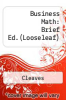cover of Business Math: Brief Edition (10th edition)