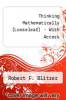 cover of THINKING MATHEMATICALLY WITH INTEGRATED REVIEW, BOOKS A LA CARTE EDITION, (6th edition)