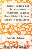 cover of Adams` Coding and Reimbursement - Pageburst Digital Book (Retail Access Card): A Simplified Approach (4th edition)