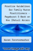 cover of Practice Guidelines for Family Nurse Practitioners - Pageburst E-Book on Kno (Retail Access Card)4