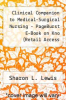 cover of Clinical Companion to Medical-Surgical Nursing - PageBurst E-Book on Kno (Retail Access Card), Assessment and Management of Clinical Problems, 9E (9th edition)
