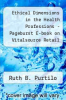 cover of Ethical Dimensions in the Health Professions - Pageburst E-book on Vitalsource Retail Access Card