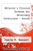 cover of Elsevier Adaptive Quizzing for McCurnin`s Clinical Textbook for Veterinary Technicians (Access Card) (8th edition)