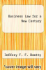 cover of Business Law for a New Century (1st edition)