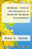 cover of Database: Control and Assurance in Advanced Database Environments (1st edition)
