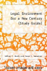 cover of Legal Environment for a New Century (Study Guide)
