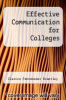 cover of Effective Communication for Colleges (10th edition)