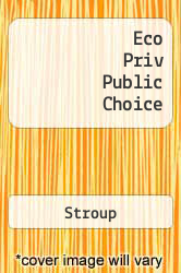 Cover of Eco Priv Public Choice 11 (ISBN 978-0324317398)
