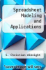 cover of Spreadsheet Modeling and Applications (2nd edition)