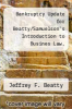 cover of Bankruptcy Update for Beatty/Samuelson`s Introduction to Busines Law, Preliminary Edition and Legal Environment