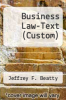 cover of Business Law-Text (Custom)