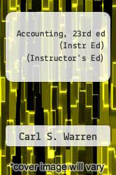 Cover of Accounting, 23rd ed (Instr Ed) (Instructor