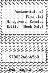 Cover of Fundamentals of Financial Management, Concise Edition (Book Only) 6 (ISBN 978-0324664560)