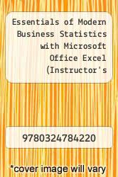 Cover of Essentials of Modern Business Statistics with Microsoft Office Excel (Instructor