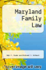 cover of Maryland Family Law (4th edition)
